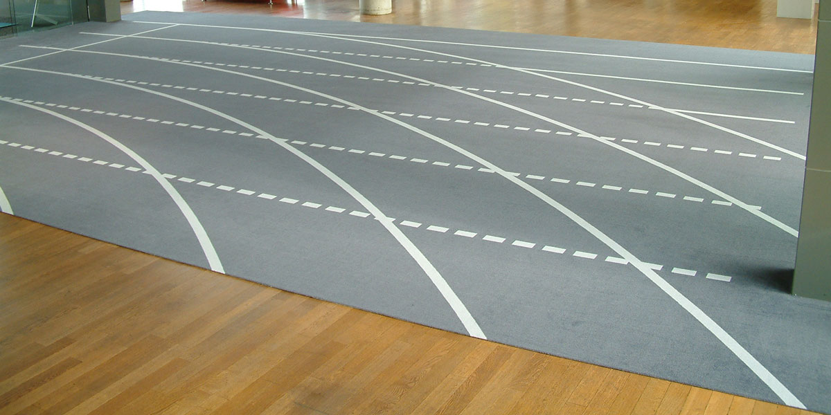 Big-Size - custom mat with printed indoor running track